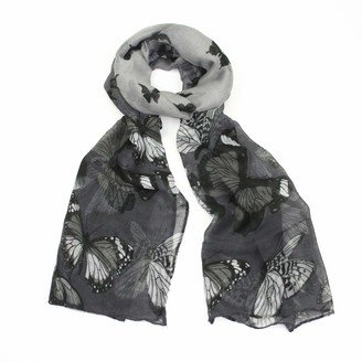 Westend Choice Ladies Scarves Neck Wrap Women Lightweight Scarf Girls Shawl Printed scarves 180 x 50 cm (Grey)