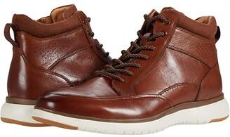 Florsheim Flair Moc Toe Lace-Up Boot (Black Leather/Black Sole) Men's Shoes