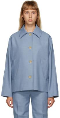 Marni Blue Wool Button-Up Jacket