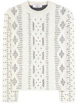 Valentino Embellished Wool And Alpaca Sweater