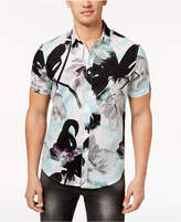 INC International Concepts I.N.C. Men's Floral Short-Sleeve Button-Down Shirt, Created for Macy's