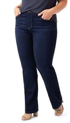 Liverpool Los Angeles Plus Liverpool Plus Sadie Straight Jeans in Stone Wash