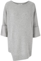 Amanda Wakeley Grey Scoop Neck Cashmere Top