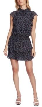 1 STATE Printed Ruffled Dress