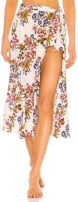 Tori Praver Swimwear Kayla Hollywood Floral Cover Up Skirt