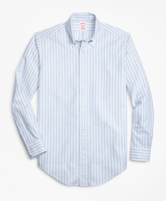 Brooks Brothers Madison Fit Oxford Double-Stripe Sport Shirt
