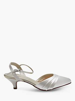 9130f6ba61557 Rainbow Club Julie Kitten Heel Court Shoes, Ivory Satin