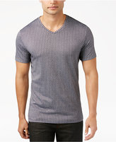 Alfani Collection Men's Mercerized Textured Crew Neck T-Shirt, Only at Macy's