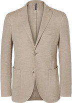 Incotex - Beige Slim-fit Linen And Cotton-blend Blazer