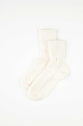 Johnstons of Elgin Ecru Womens Cashmere Socks