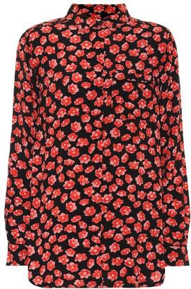 Ganni Floral crepe shirt
