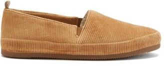 Mulo - Shearling-lined Cotton-corduroy Slippers - Beige