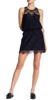 David Lerner Lace Overlay Sleeveless Dress