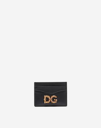 Dolce & Gabbana Amore Calfskin Card Holder