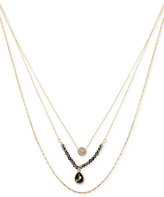 Kenneth Cole New York Gold-Tone Beaded Crystal Layer Pendant Necklace