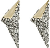 Alexis Bittar Two-Tone Crystal Encrusted Pyramid Post Earrings
