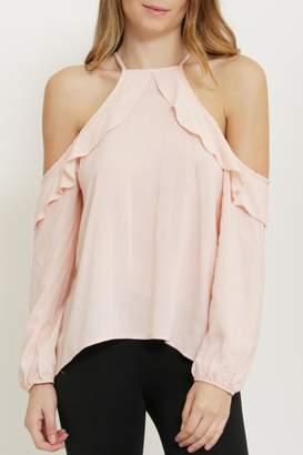 1 Funky Pink Cold Shoulder Blouse