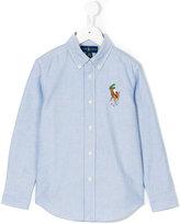 Ralph Lauren branded long-sleeved shirt - kids - Cotton - 2 yrs