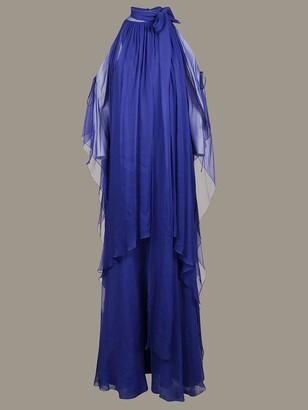 Alberta Ferretti Long Dress With America Neckline