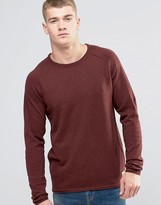 Jack and Jones Vintage Raw Edge Crew Neck Knitted Sweater