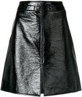 Courreges patent a-line skirt