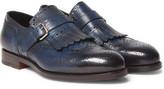 Santoni Burnished Full-Grain Leather Loafers
