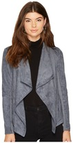 BB Dakota Wade Faux Suede Drape Jacket Women's Coat