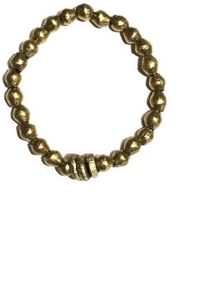 Twine & Twig Metal Single Stack Bracelet in Gold