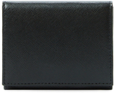 Original Penguin Cross Hatch Leather Card Holder