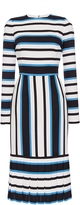 Dolce & Gabbana Silk Cotton Mid Length Striped Dress