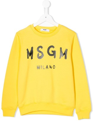 Msgm Kids Logo-Print Sweatshirt