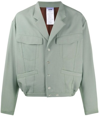Front Flap Pocket Bomber Jacket