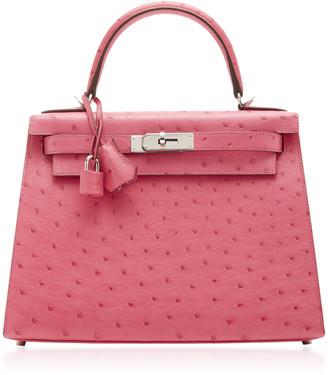 Hermes Vintage by Heritage Auctions Hermes 28cm Pink Ostrich Kelly Bag