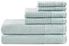 Madison Home USA Spa Waffle Jacquard 600 Gsm Combed Cotton 6-Pc. Towel Set Bedding