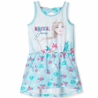 Disney Frozen 2 Official Licensed Girls Sleeveless Summer 100% Cotton Dress. Pink or Blue