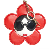 Alice + Olivia Red Large Staceface Leather Charm