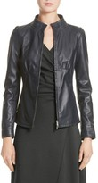 Armani Collezioni Women's Seamed Leather Jacket