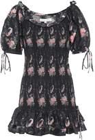 LoveShackFancy Violet smocked silk minidress