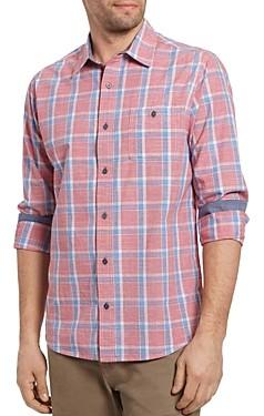 Flag & Anthem Rangerville Cotton Plaid Slim Fit Button-Up Shirt