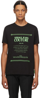 Versace Black and Green Warranty Label T-Shirt
