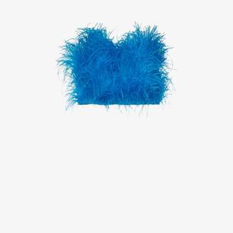 ATTICO Elsa ostrich feather bandeau crop top