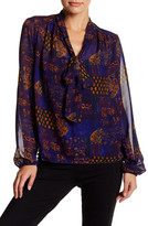Romeo & Juliet Couture Tie Neck Long Sleeve Blouse