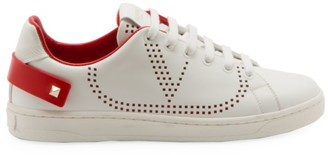 Valentino Net Mesh Leather Sneakers