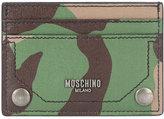 Moschino camouflage print cardholder