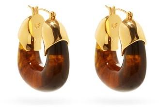 Lizzie Fortunato Organic Gold-plated Hoop Earrings - Brown