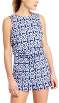 Athleta Printed Short Crossback Romper
