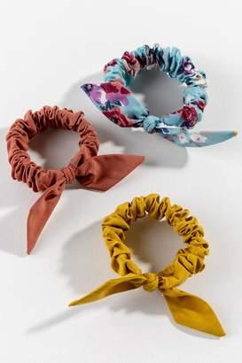 francesca's Sherry Bow Scrunchie Set - Marigold