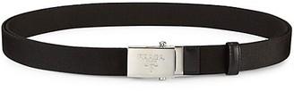 Prada Nastro Logo-Engraved Double-Wrap Nylon Belt