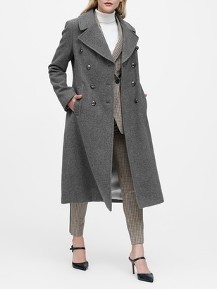 Banana Republic Petite Italian Melton Long Coat