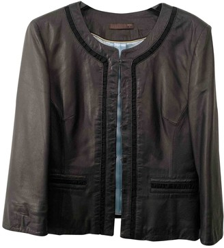 Dna Black Leather Jacket for Women